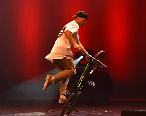 BMX-Freestyler Chris Böhm